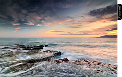 Wild World (juandiegojr) Tags: blue red sea sky espaa orange costa seascape verde green beach azul clouds marina reflections landscape coast mar spain rojo sand rocks offshore playa paisaje arena cielo nubes naranja rocas mlaga reflejos catstevens wildworld nikond90 playadelaaraa juandiegojr lee09ndgradsoft lee06ndgradhard juandiegojrcom tokinaatx1224mm4afprodx lee100mmcircularpolarizer