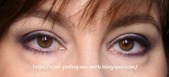 Look Blue Smokey Inglot ojos abiertos blog