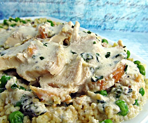Tarragon Chicken wtih Sweet Pea Couscous