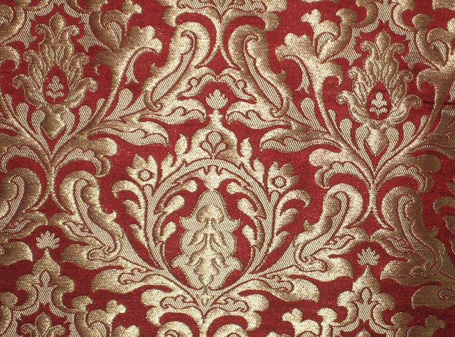 Pure Heavy Silk Brocade Fabric Rich Red Amp Gold 36 Quot