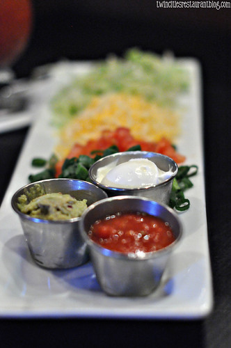 Salsa, Guacamole, Lettuce & Cheese for Fajitas at Oak City ~ Brooklyn Center, MN