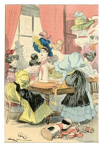 021-Las modistas-Le 19e siècle 1888- Albert Robida