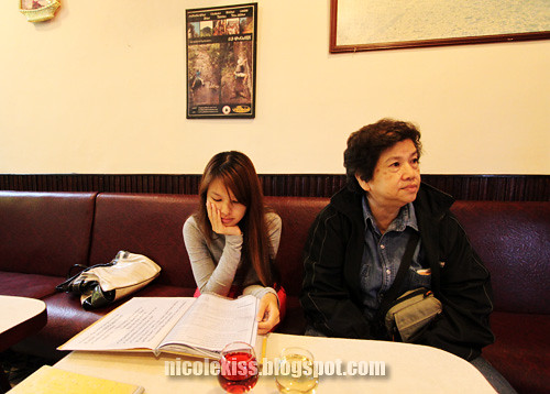 me and mom at restaurant in dalat