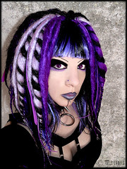 cyber-goth portrait (mistabys) Tags: portrait girl fashion lady dark model purple gothic goth evil gothique alternative cyber cybergoth mistabys undergroupd
