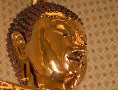 Solid Gold Buddha (shashin62) Tags: bells thailand temple gold bangkok buddha carving wat wattraimit