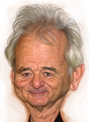digital caricature of Bill Murray - 4