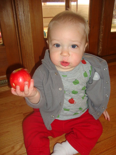 what? eating apples ain't no thing, mom.