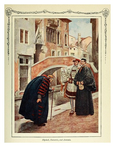 016-Shylock-Bassanio y Antonio-Shakespeare's comedy of the Merchant of Venice 1914- James D. Linton