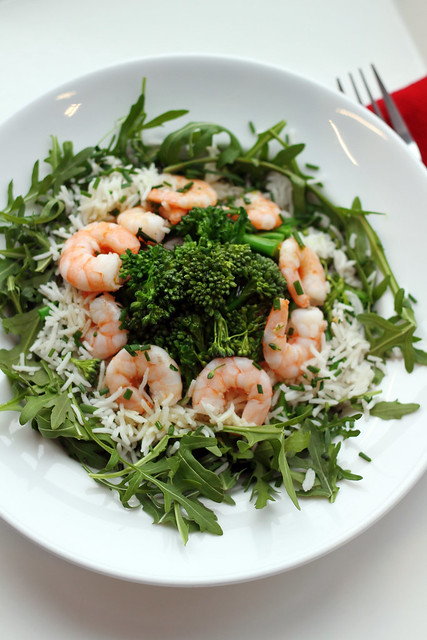 Prawns, Sprouting Broccoli and Basmati Rice