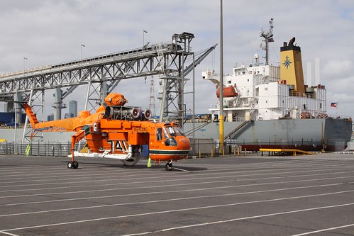 Erickson Air-Crane firefighting helicopter N243AC at Appleton Dock