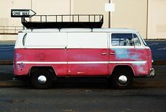 One Way Van (velocorse) Tags: california old red bus abandoned love hippies vw vintage bug germany way volkswagen one junk nikon 60s san francisco peace beetle hippy retro nostalgia german saturation 70s sacramento primer 1960s van 1970s d40