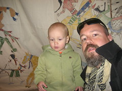 Iniside the tipi