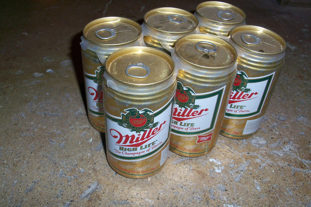 Miller Beer Six Pack w/ Pull Tab Cans