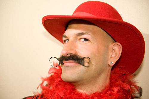 Ghandi, 1st Place Winner of the Freestyle Moustache @ World Beard and Moustache Championships 2011