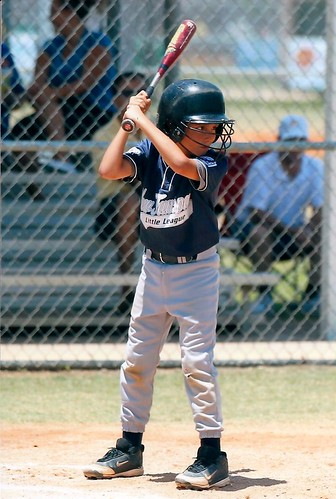 Owen at bat