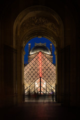 pyramide, louvre (phlickrron) Tags: paris louvre pyramide night light gate city street