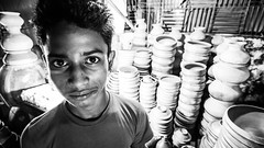 Portrait and pottery (haqiqimeraat) Tags: portraiture portrait pottery clay d7100 tokina ultrawide uwa faces face bangladesh chittagong streetphotography