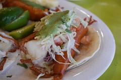 Fish taco (lulun & kame) Tags: newyork america newyorkcity americasfood  queens    usa  mexicanfood astoria    lumixg20f17