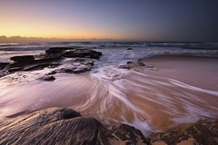 Lines in the Sand (Paul Hollins) Tags: aus australia newsouthwales newcastle newcastleeast nikond750 paulhollins seascape rocks ocean watermovement muloobinbah