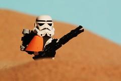 """It's hot"" (Blockaderunner) Tags: star lego stormtrooper wars tatooine sandtrooper"