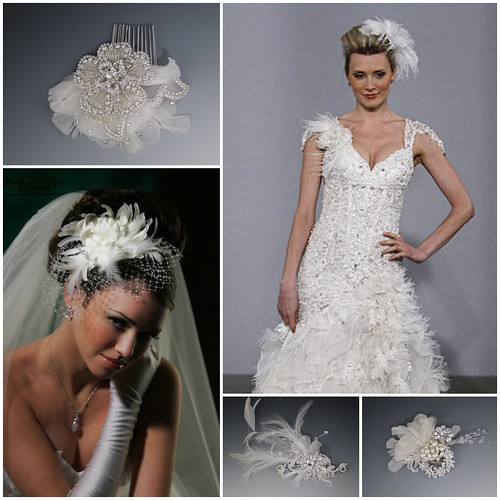 Bridal Feather Fascinators