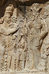 Relief of Narseh (r. 293-303) (Sepideh!) Tags: march persian shoes king iran  persia relief footwear empire pars 2010 anahita fars sepideh sasanian sassanid naqsherostam aredvisuraanahita shapurdokhtak thegoddessofthewaters reliefofnarseh r293303