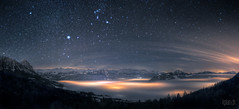 Orion + sea of fog ~ (dmkdmkdmk) Tags: sea sky panorama mountains alps fog night stars switzerland swiss orion hdr Astrometrydotnet:status=failed astro:subject=orion nebelmeerlauerzerseepanorama astro:gmt=20101229t2226 Astrometrydotnet:id=alpha20110463493089