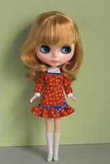 yoke dresses orange