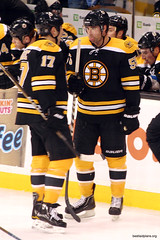 Johnny Boychuk with Milan Lucic (slidingsideways) Tags: nhl bostonbruins easilyamused floridapanthers milanlucic 20102011 johnnyboychuk g9sports aeryssports