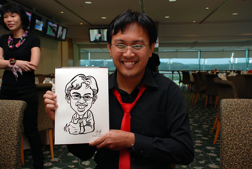 caricature live sketching for Thorn Business Associates Appreciate Night 2011 - 3