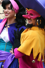 Clopin and Esmeralda (skeletonstockings) Tags: disneyland esmeralda clopin thehunchbackofnotredame