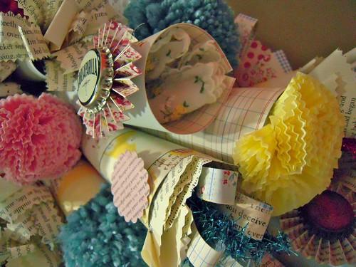 paper cones & flowers