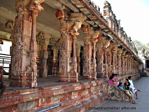 Pillars in virupaksh temple