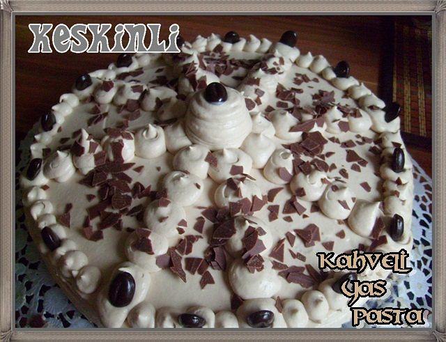 kahveli dogum günü pastasi