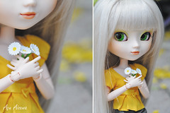 Flowers *DDW6/52* (Au Aizawa) Tags: japanese diptych hellokitty sanrio clothes pullip rement fashiondoll paja dollydiptychweekly