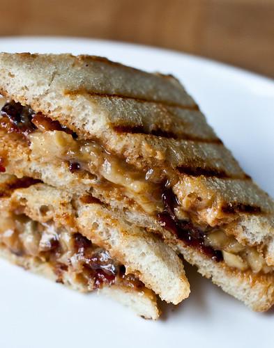 Peanut Butter, Banana & Bacon Sandwich