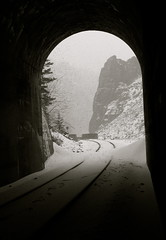 Tunnel 5 BNSF  [GN]  Montana (montanatom1950) Tags: snow ice montana tracks tunnels railways gn bnsf railroads helenamontana burlingtonnorthernsantafe greatnorthernrailway