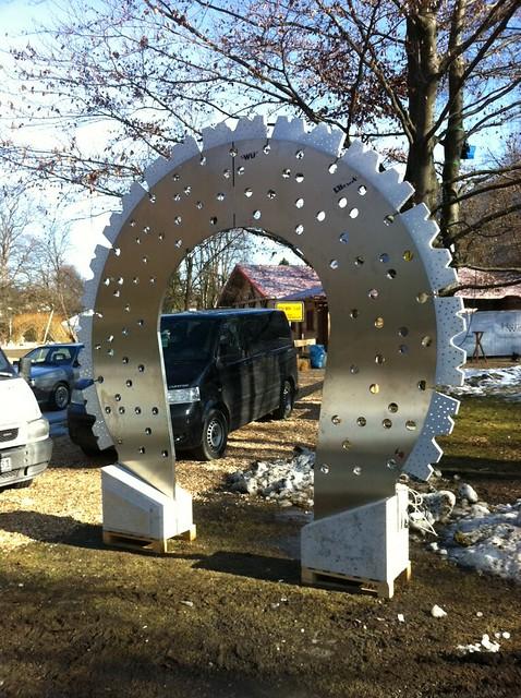 Im Kurpark: Ski-WM 2011 - Tag 2