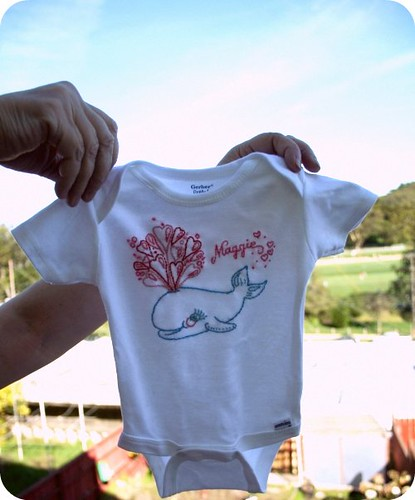 Embroidered Whale Onesie