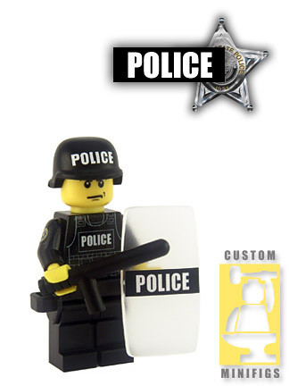 Custom minifig Riot Cop - POLICE 1
