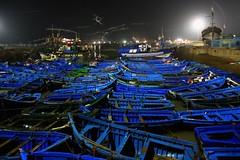 Essaouira harbour (Z Eduardo...) Tags: africa blue boat harbour unesco worldheritagesite morocco maroc ligth essaouira bynigth platin