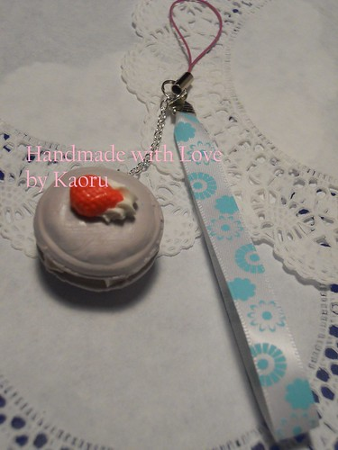 Macaroon cell Phone charms