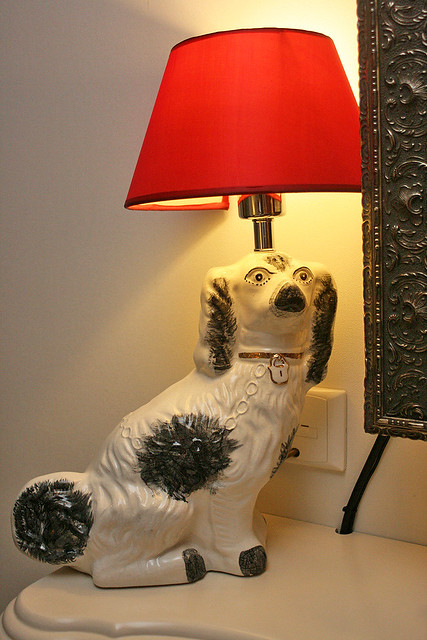Whimsical lamp in the bedroom