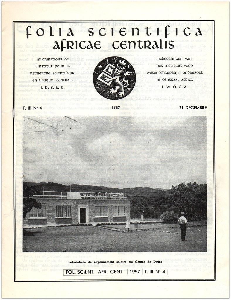 016 Illustration en couverture du laboratoire solaire du Centre de l'IRSAC à Lwiro.