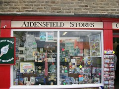 Window of Oscar Blaketon's Store, Aidensfield (orbora78) Tags: england yorkshire postcards giftshop goathland heartbeat villagestore touristshop villageshop aidensfieldstore oscarblaketonproprietor