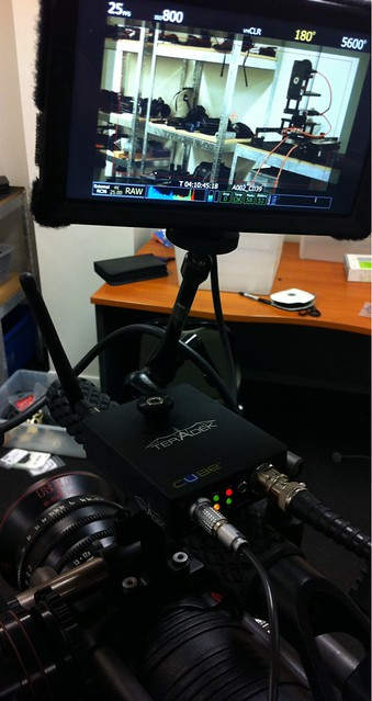 Today's science experiment: Wireless recording of @RED_Cinema footage using @Teradek Cube: