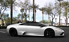 Lamborghini Murcilago LP640 Roadster (Monkey Wrench Media) Tags: arizona italy white black wheel italian italia side low rear wheels profile convertible az r lp scottsdale lamborghini supercar awd murcilago roadster murcielago v12 lambo 640 softtop longitudinal blackwheels lp640 murcie posteriore worldcars carsandcoffee lp640r longitudinale 640r murci longitudinaleposteriore rearlongitudinal