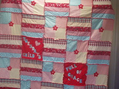 Gills Birthday Quilt (Just Jude Designs) Tags: quilt rawedge