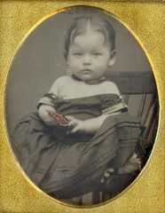 Baby and Doll Dag (Mirror Image Gallery) Tags: chinadoll victorianbabydaguerreotype
