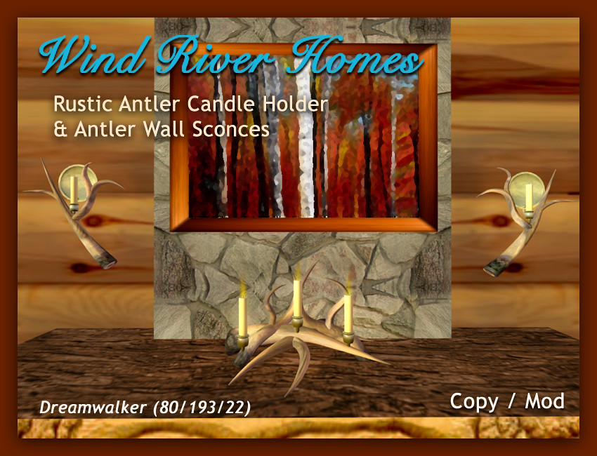 Antler Candle Holder and Sconces